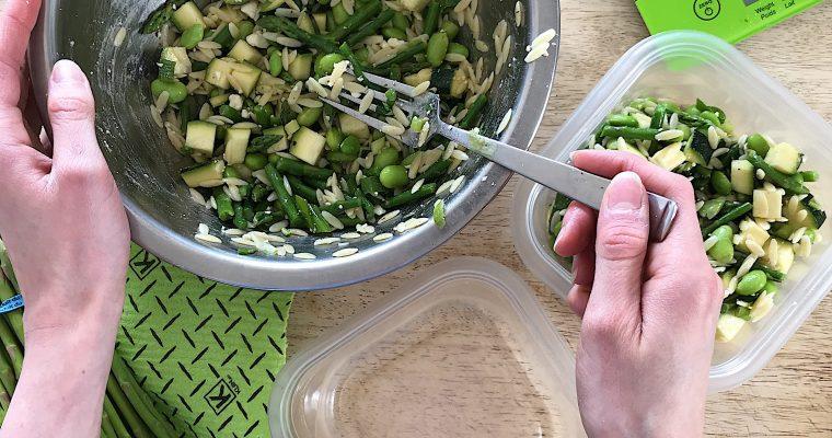 Salade d'orzo printanière