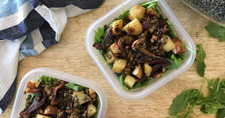 Salade de lentilles aux pommes de terre