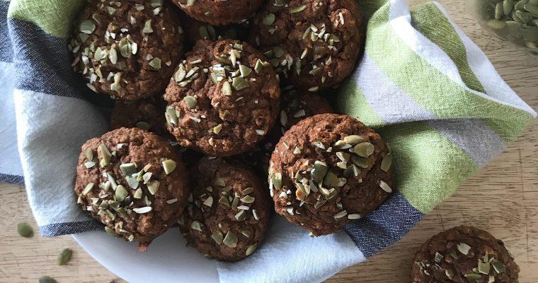 Muffins mélasse et pomme riches en fer