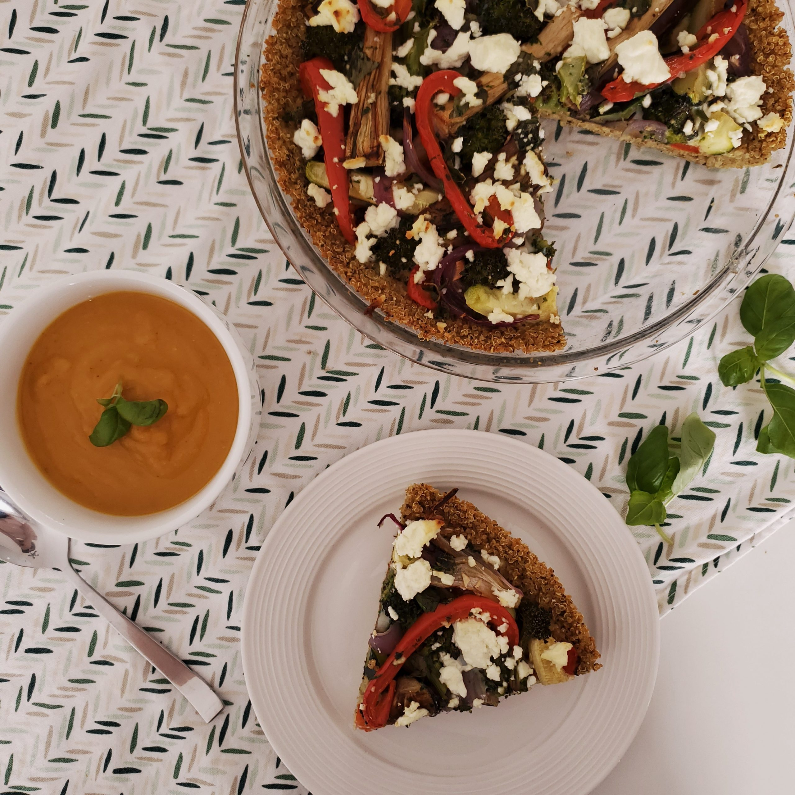 Tarte aux légumes en croûte de quinoa