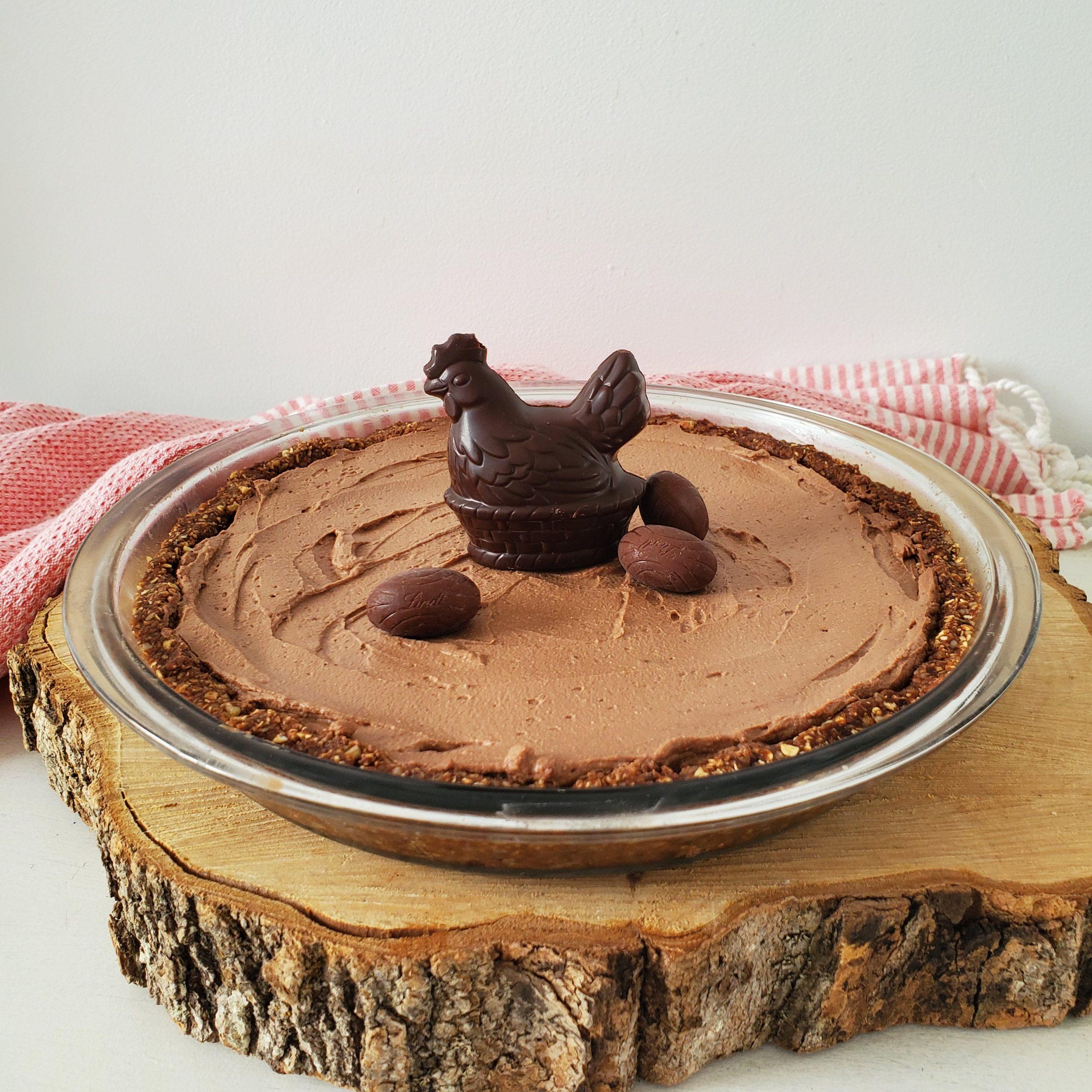 Tarte au chocolat noir sans cuisson